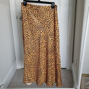 & Other Stories leopard skirt